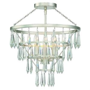 Lucille - 3 Light Flush Mount in Classic Style - 16 Inches Wide by 18.75 Inches High