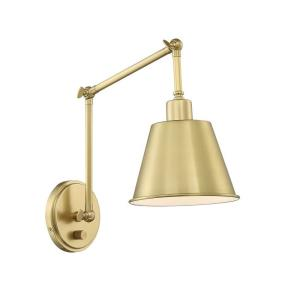 Mitchell - 1 Light Wall Mount in natural, organic, and raw Style - 7.25 Inches Wide by 30.5 Inches High
