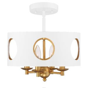 Odelle - Four Light Flush Mount