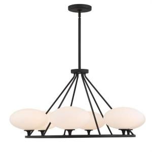 Parker - 6 Light Chandelier in classic, elegant, and casual Style - 34.37 Inches Wide by 17.25 Inches High