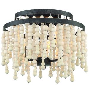 Poppy - 3 Light Flush Mount in classic, elegant, and casual Style - 14.96 Inches Wide by 11.81 Inches High