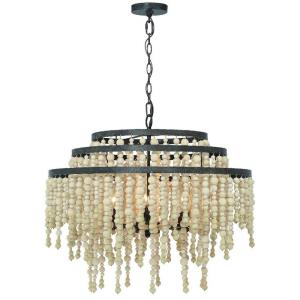 Poppy - 6 Light Chandelier in Classic Style - 26.5 Inches Wide by 21.25 Inches High