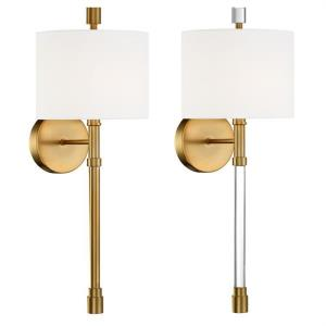 Rachel - 1 Light Wall Mount in classic, elegant, and casual Style - 8 Inches Wide by 22.12 Inches High