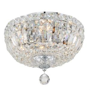 Roslyn - 4 Light Flush Mount in Classic Style - 12 Inches Wide by 9 Inches High