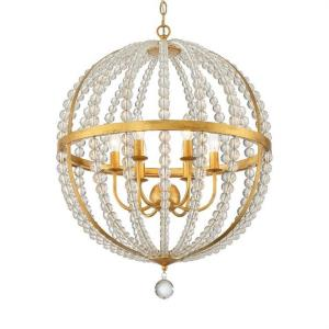 Roxy - 6 Light Chandelier in traditional and contemporary Style - 22 Inches Wide by 29.75 Inches High