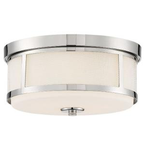 Trevor - 2 Light Flush Mount in Classic Style - 13.62 Inches Wide by 6.37 Inches High
