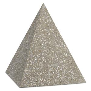 Abalone - 8 Inch Large Concrete Pyramid