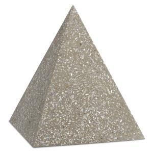 "Abalone - 8"" Large Concrete Pyramid"