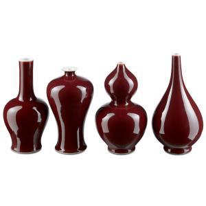 """Oxblood - 10.5"""" Vase (Set of 4)"""
