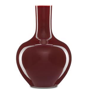 """Oxblood - 16"""" Large Gourd Vase"""