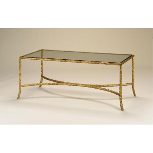 Currey and Company 4057 Gilt Twist - 44 Inch Cocktail Table