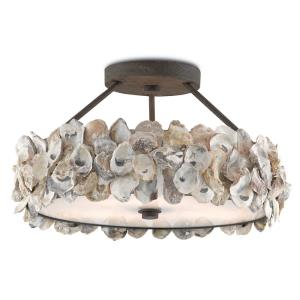 Oyster - Three Light Semi-Flush Mount