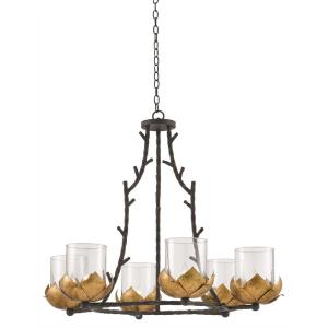 Water-Lily - Six Light Chandelier