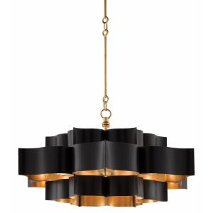 Grand Lotus - Six Light Large Convertible Chandelier
