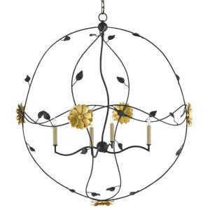 Oona - Four Light Orb Chandelier