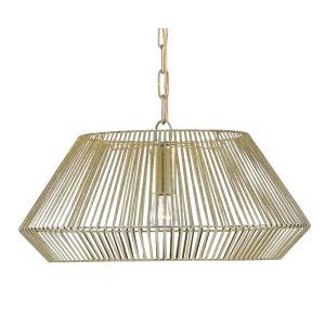 Pollinger Gold - One Light Small Pendant