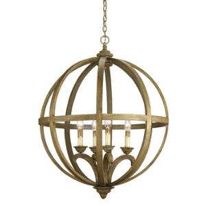 Axel - 4 Light Large Orb Chandelier