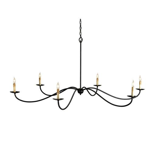 Currey and Company 9267 6 Light Saxon Chandelier