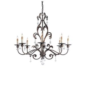 8 Light Pompeii Chandelier