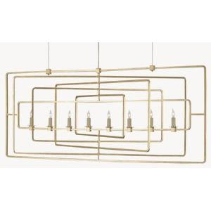 Metro - Eight Light Rectangular Chandelier