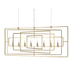 Metro - 8 Light Rectangular Chandelier