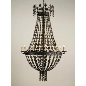 Oyster - Eight Light Circle Chandelier