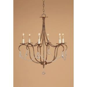 6 Light Crystal Light Chandelier