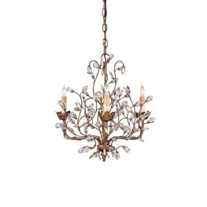 Crystal Bud - 3 Light Small Chandelier
