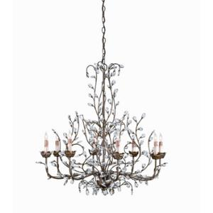 8 Light Crystal Bud Chandelier