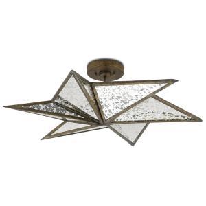 Stargazer - Three Light Semi-Flush Mount