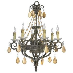 Dorato - Six Light Chandelier