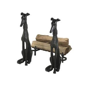 "24"" Dog Andiron - Set of 2"