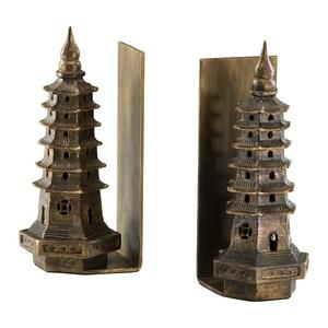 10 Inch Pagoda Bookend - Set of 2