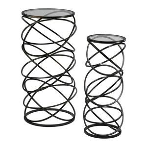 28 Inch Spiral Table - Set of 2