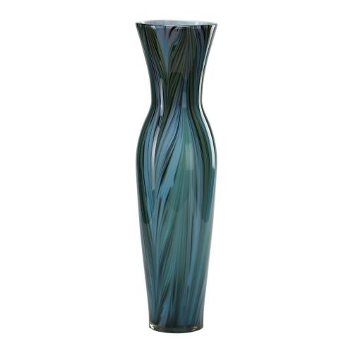 Cyan lighting 02921 Peacock Feather - Tall Vase - 6.5 Inches Wide by 23 Inches High