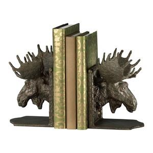 10 Inch Moosehead Bookend - Set of 2