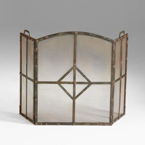 Cyan lighting 04900 Lincoln - 49.5 Inch Small Fire Screen