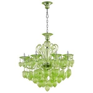 Bella Vetro - Eight Light Small Chandelier