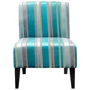 Ms. Stripy Blu - 24.25 Inch Small Chair