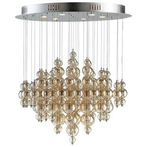 Bubbles Cash - Six Light Large Pendant - 35 Inches Wide by 32 Inches High