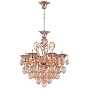 Bella Vetro - Six Light Small Chandelier