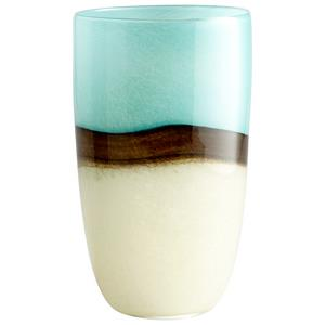 "Turquoise Earth - 6.75"" Large Decorative Vase"