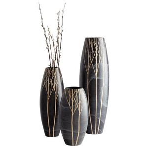 Onyx - Large Winter Decorative Vase - 7 Inches Wide by 18 Inches High