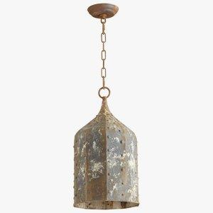 Collier - One Light Large Pendant - 9.75 Inches Wide by 19.75 Inches High