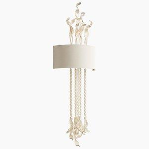 Islet - Two Light Wall Sconce - 17 Inches Wide by 50 Inches High