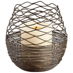 6.25 Inch Coiled Silk Candleholder