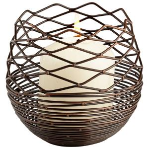 """4.75"""" Small Coiled Silk Candleholder"""