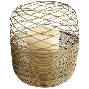 "8.5"" Guilded Silk Candleholder"