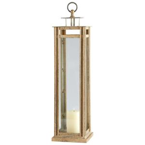 37.75 Inch Large Tower Glass Candleholder