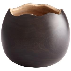 "7.75"" Large Bol Noir Vase"